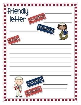 Navy Christmas Friendly Letters