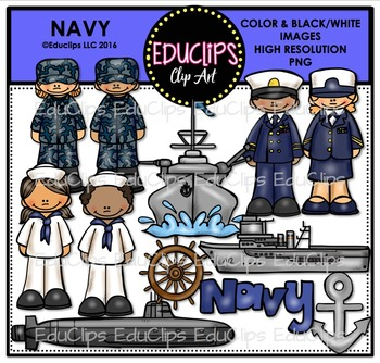 Navy Clip Art Bundle