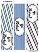 Navy & Coral -- 3-drawer Organizer Box Labels
