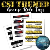 CSI-themed Group Role Name Tags