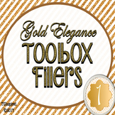Gold Elegance 1 --- Teacher's Tool Box Labels
