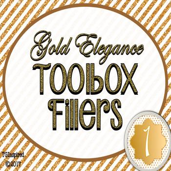 Gold Elegance 1 --- Teacher's Tool Box Labels
