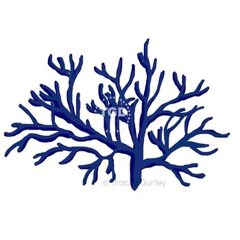 Navy Coral, style 1, navy coral clip art, beach clip art Tracey Gurley Designs