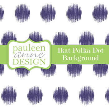 Navy Ikat Polka Dot Background