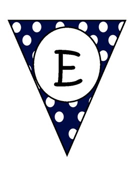 Navy Large Dots Welcome Banners in English and Spanish