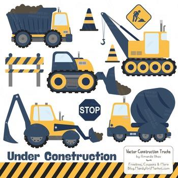 Navy & Lemon Construction Clipart & Vectors