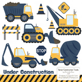Navy & Lemon Construction Clipart & Vectors