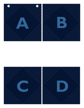 Navy Lines Banner