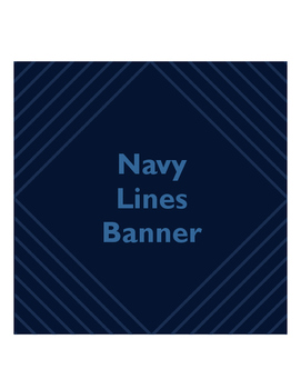 Navy Lines Banner