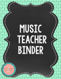 Navy Mint Chalkboard Music Teacher Binder {Editable} #Musi