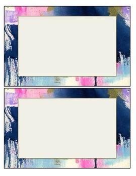 Navy Paint Theme Labels