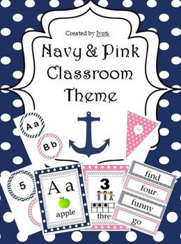 Navy & Pink Classroom Theme