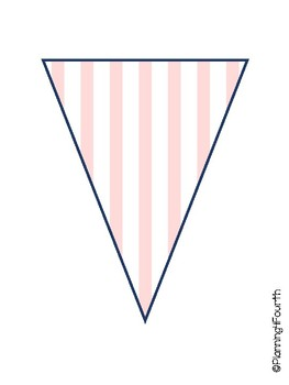 Navy, Pink, and Gold Pennant Pack