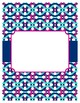 Navy, Pink and White Nautical Binder Covers and Spines