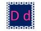 Navy Polka Dot Alphabet