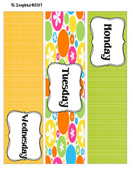 3-drawer Organizer Box Labels -- School a drag? Get these GROOVY Flower labels
