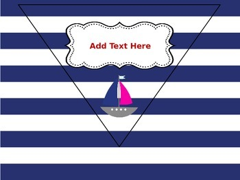 Navy & Red Nautical Classroom Rules - Pennant Banner - Editable