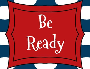 Navy & Red Theme PBIS Posters