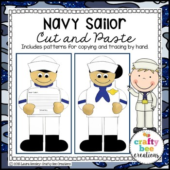Navy Sailor Cut and Paste
