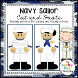 Veterans Day Craft {Navy Sailor}