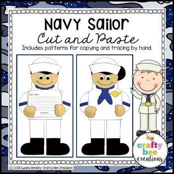 Veterans Day Craft {Navy Sailor}
