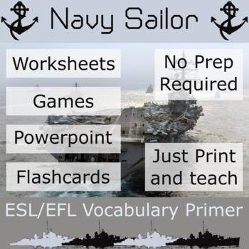 Navy Sailor - ESL / EFL Vocabulary Builder - English+Chinese
