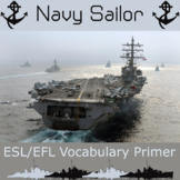 Navy Sailor - ESL / EFL Vocabulary Builder - English+Chinese