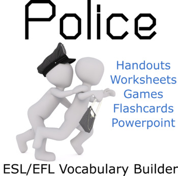 The Police and the Criminal ESL / EFL Vocabulary Builder - English+Chinese