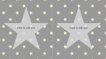 Navy Star Labels **Editable**