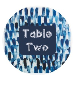 Navy Table Numbers