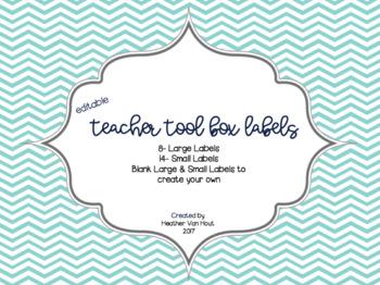 Navy/Teal Teacher Tool Box Labels