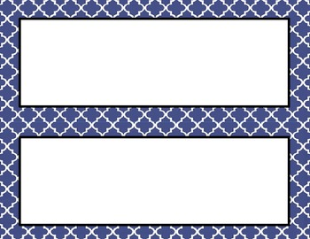 Navy Tile Classroom Labels and Tags