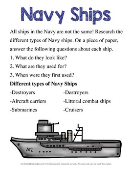 Navy Unit Study (for Upper Elem)