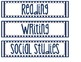 Navy & White Classroom Labels