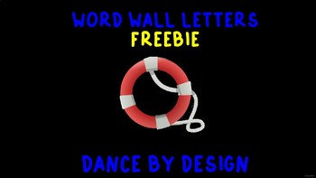 Navy Word Wall Letters