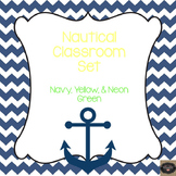 Navy & Yellow Nautical Classroom Set