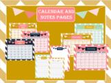 Navy and Blush Chevron Calendar and Design Notes