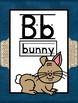 Navy and Burlap Alphabet A-Z