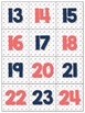 Navy and Coral Calendar Set