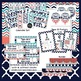 Navy and Coral Classroom Decor Bundle