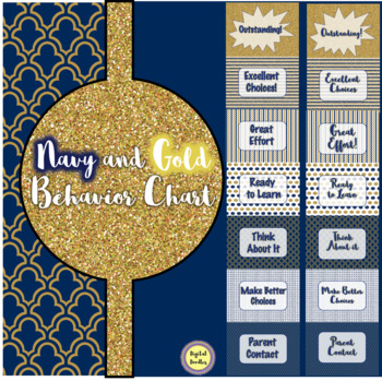 Navy and Gold Behavior Chart
