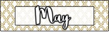 Navy and Gold Calendar