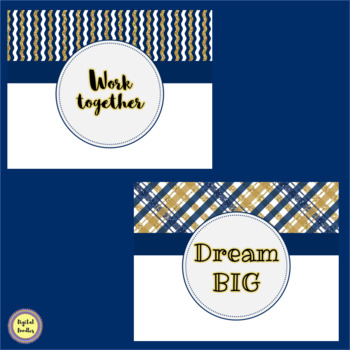 Navy and Gold Classroom Rules ~ EDITABLE ~