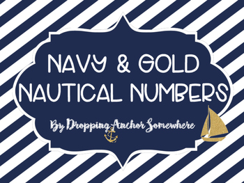Navy and Gold Nautical Number Flags