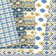 Navy and Gold aztec Digital Paper, Boho seamless patterns backgrounds
