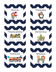 Navy and Gray Book Labels