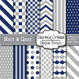Navy and Gray Digital Paper 1439