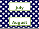 Navy and Green Calendar Inserts