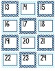 Navy and Light Blue Calendar Numbers
