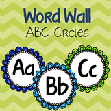 Word Wall ABC Letters {Navy & Lime}